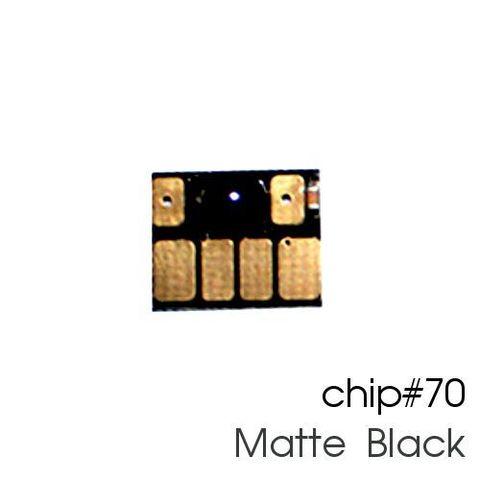 Чип матовый чёрный для картриджей (ПЗК/ДЗК) HP 70 Matte Black для DesignJet Z2100, Z5200 (авто обнуляемый), независимый