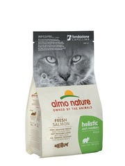 Корм для взрослых кошек, Almo Nature Functional Adult Anti-Hairball Fish and Potatoes, контроль вывода шерсти с рыбой и картофелем