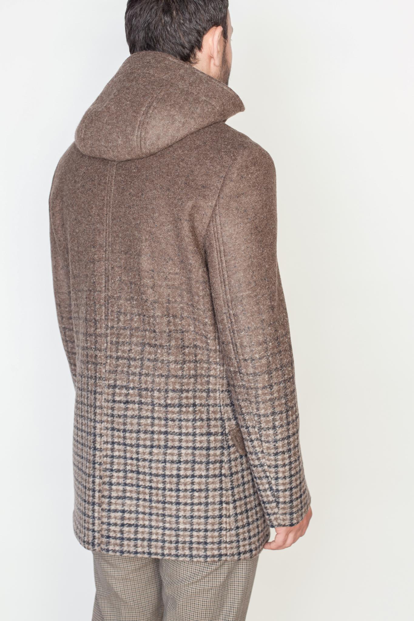 Повседневное коричневое пальто с капюшоном, капюшон