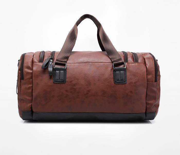 BAG426-2 Мужская сумка коричневого цвета с ремнем на плечо фото 03