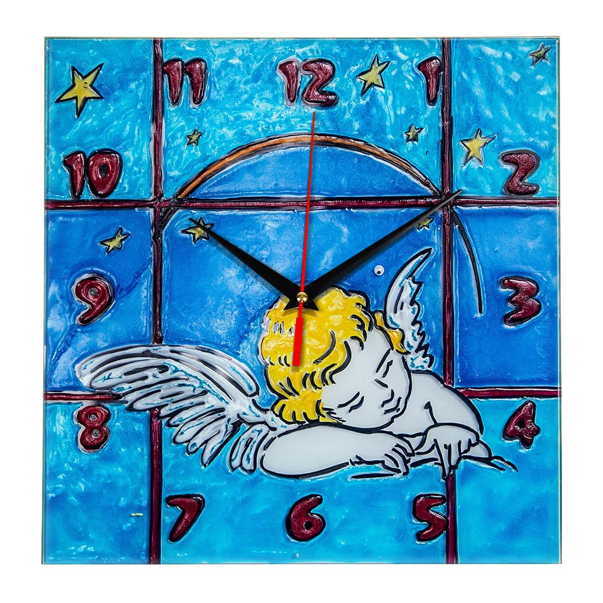 """Часы раскраска на стекле для детей """"Спящий ангел"""" - купить ..."""