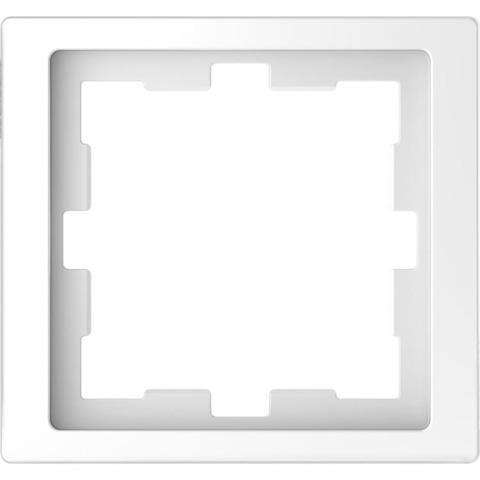 Рамка на 1 пост. Цвет Белый лотос. Merten D-Life System Design. MTN4010-6535