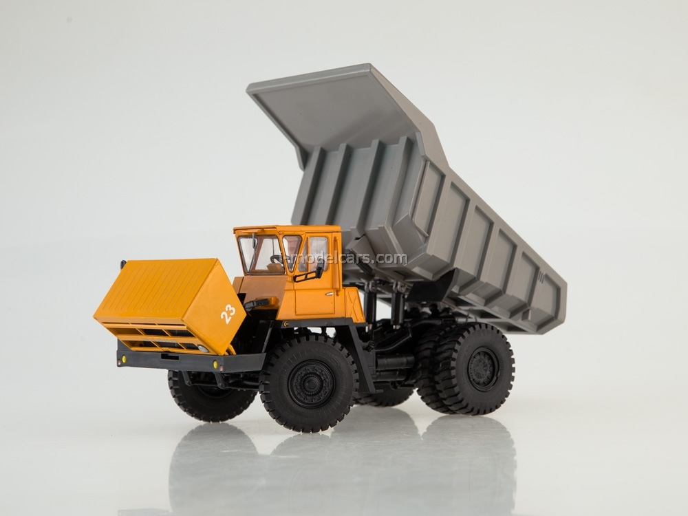 BELAZ-7522 Dump truck early orange-gray 1:43 Dealer models BELAZ