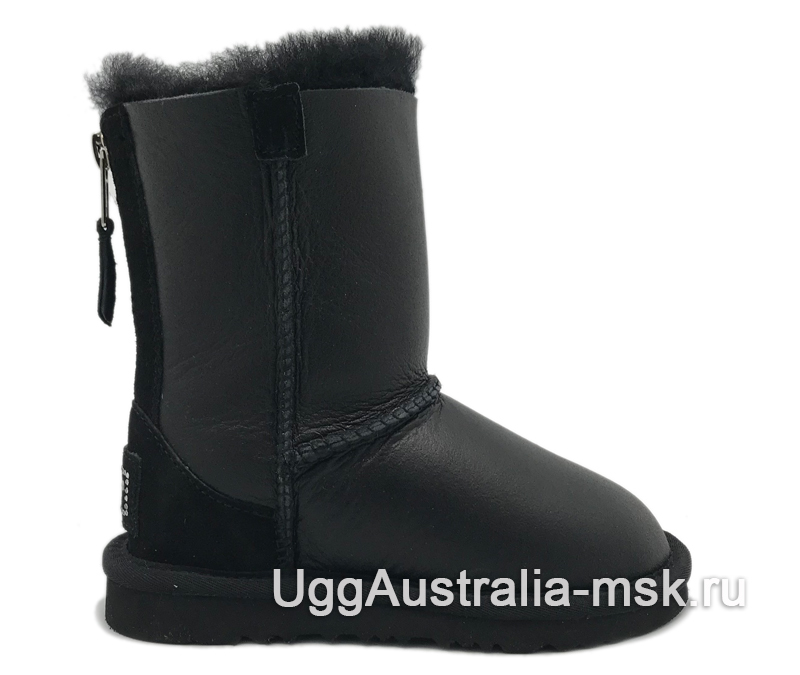 UGG Kids Zip Metallic Black