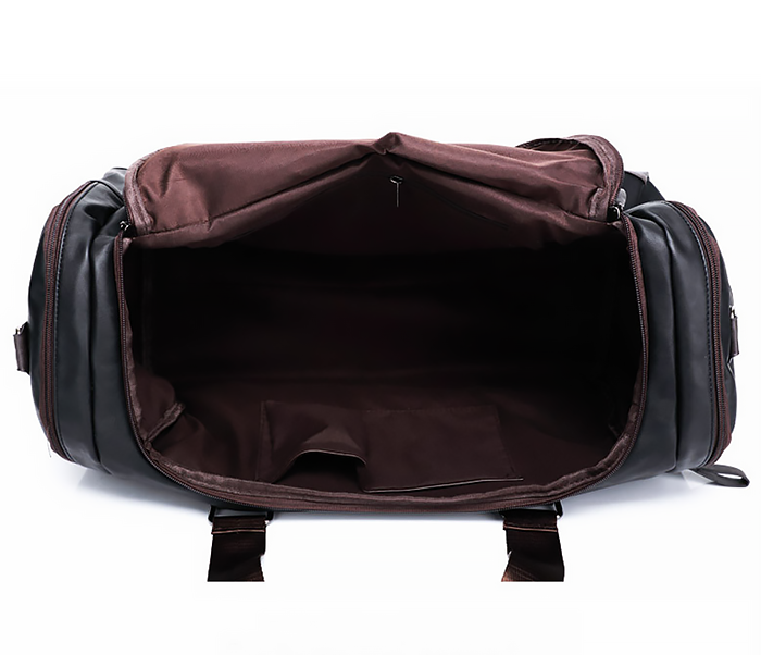 BAG426-2 Мужская сумка коричневого цвета с ремнем на плечо фото 04