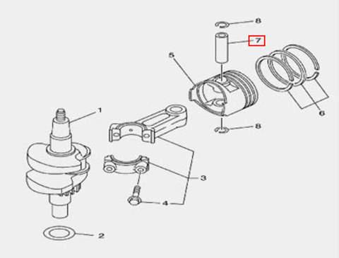 Палец для лодочного мотора F5 Sea-PRO(3-7)