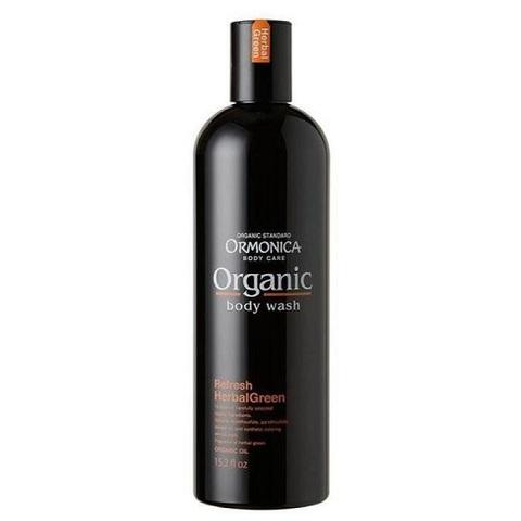 Мыло для тела жидкое органическое освежающее с ароматом зеленых трав Ormonica Organic Body Wash Refresh 450мл
