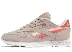 Кроссовки Женские Reebok Classic Leather Grey Pink Suede
