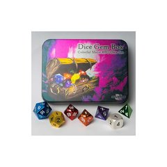Blackfire Dice Metal Dice Set Dice Gem Box