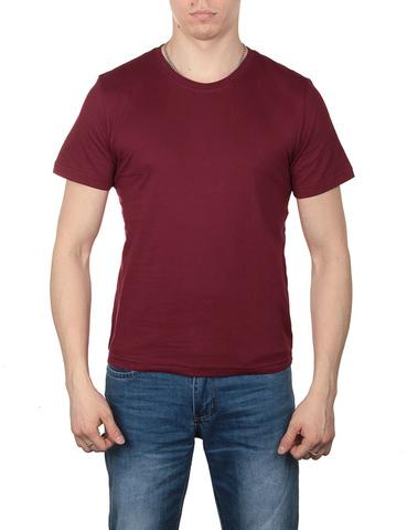 4495-3 футболка мужская, бордовая