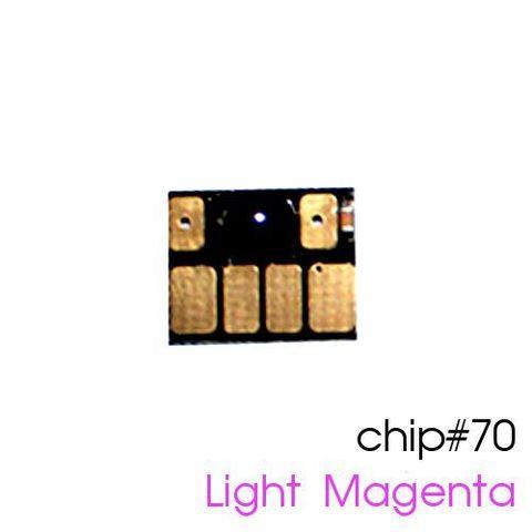 Чип светло-пурпурный для картриджей (ПЗК/ДЗК) HP 70 Light Magenta для DesignJet Z2100, Z5200 (авто обнуляемый), независимый
