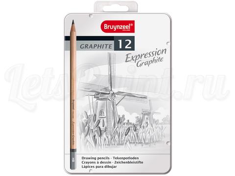 Набор из 12 карандашей для графики Bruynzeel Expression