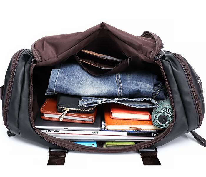 BAG426-2 Мужская сумка коричневого цвета с ремнем на плечо фото 05