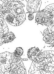 ЗОМБОКРАСКА - раскраска про зомби