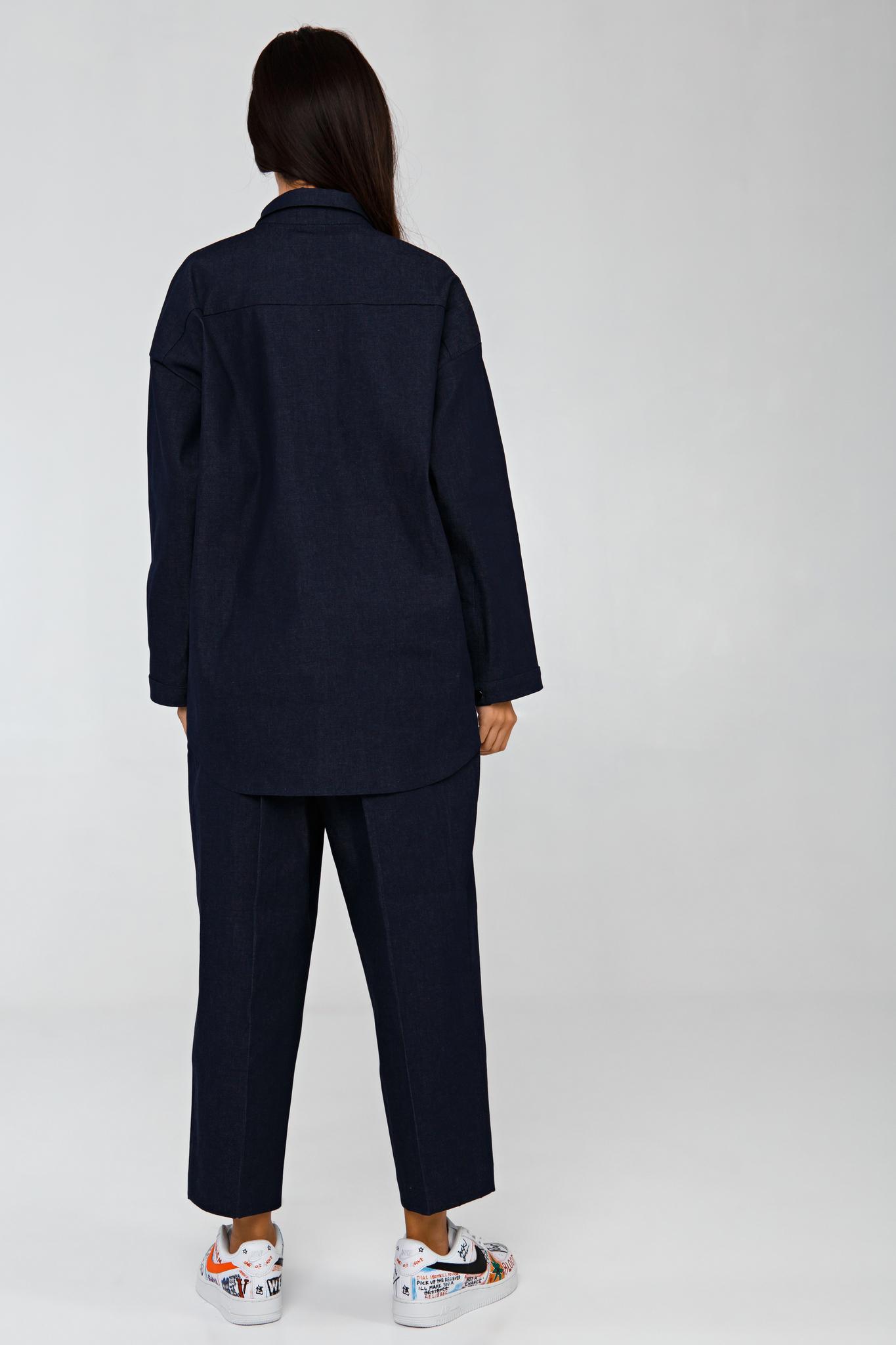 Джинсовый костюм свободного кроя YOS
