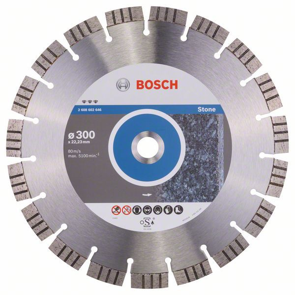 Алмазный диск Best for Stone 300-22,23 Bosch 2608602646