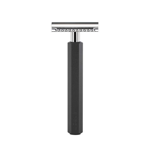 Т-образная бритва MUEHLE HEXAGON, анодированный алюминий, графит, closed comb
