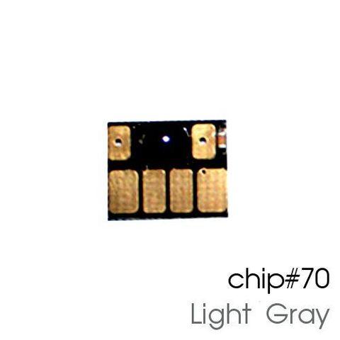 Чип светло-серый для картриджей (ПЗК/ДЗК) HP 70 Light Gray для DesignJet Z2100, Z5200 (авто обнуляемый), независимый
