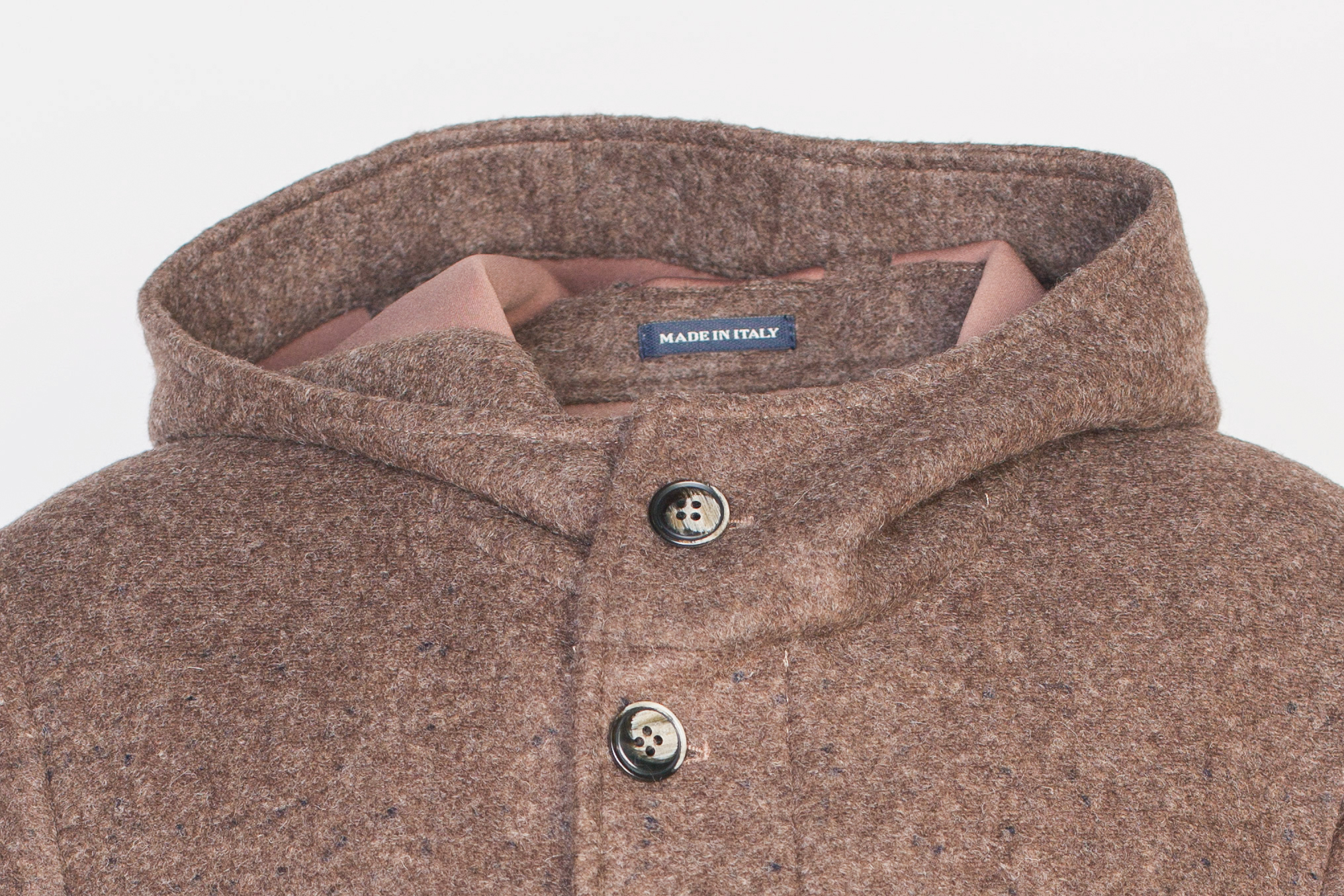 Повседневное коричневое пальто с капюшоном, воротник