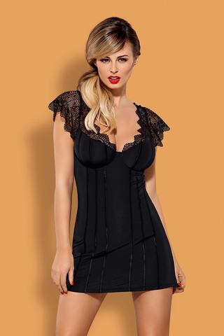 Эротичная сорочка женская с кружевными плечиками Moketta