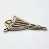 Винтажный декоративный элемент - коннектор Art Deco (1-2) 25х18 мм (оксид латуни)