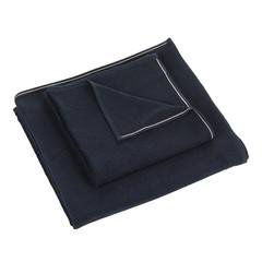 Полотенце 90x180 Hamam Qashmare Contrast синее