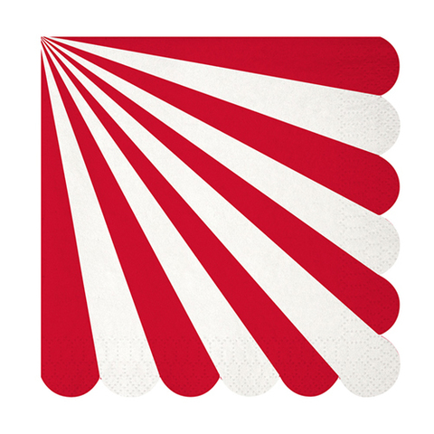 Салфетки в красную полоску, большие