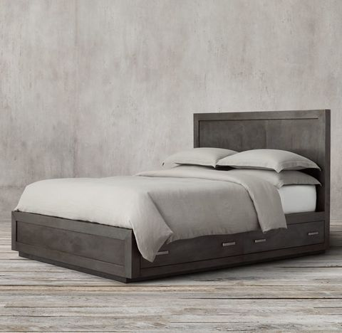 La Salle Metal-Wrapped Storage Bed