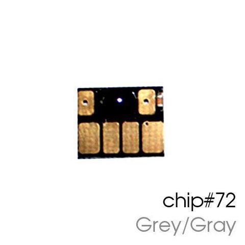 Чип серый для картриджей (ПЗК/ДЗК) HP 72 Grey/Gray для DesignJet T790, T795, T610, T2300, T770, T1300, T1200, T1120, T620, T1100 (авто обнуляемый)