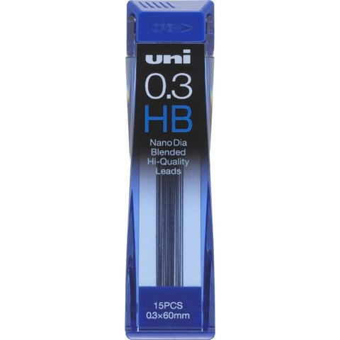 Грифели 0,3 мм Uni NanoDia HB