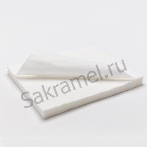 Салфетки (Спанлейс, белый, 15х20 см, 100 шт/упк, стандарт)