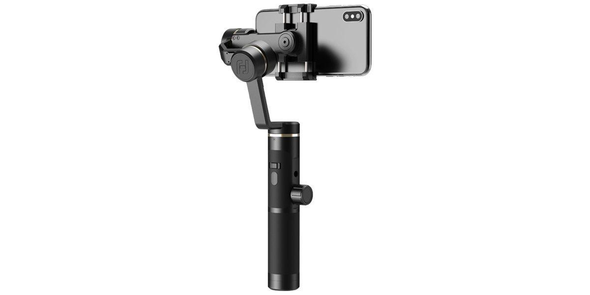 Стабилизатор трехосевой для смартфона Feiyu FY-SPG2 со смартфоном вид сзади