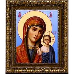 Большая Казанская икона Божьей Матери на холсте.