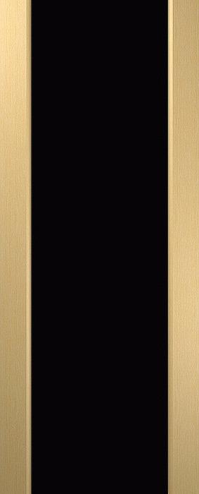 Дверь межкомнатная Россич, Вега , Черный триплекс без рисунка, Цвета: Дуб беленый, Черный дуб ,