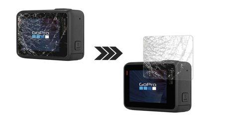 Набор защитных стекол для HERO5/6 Black стекло в действии