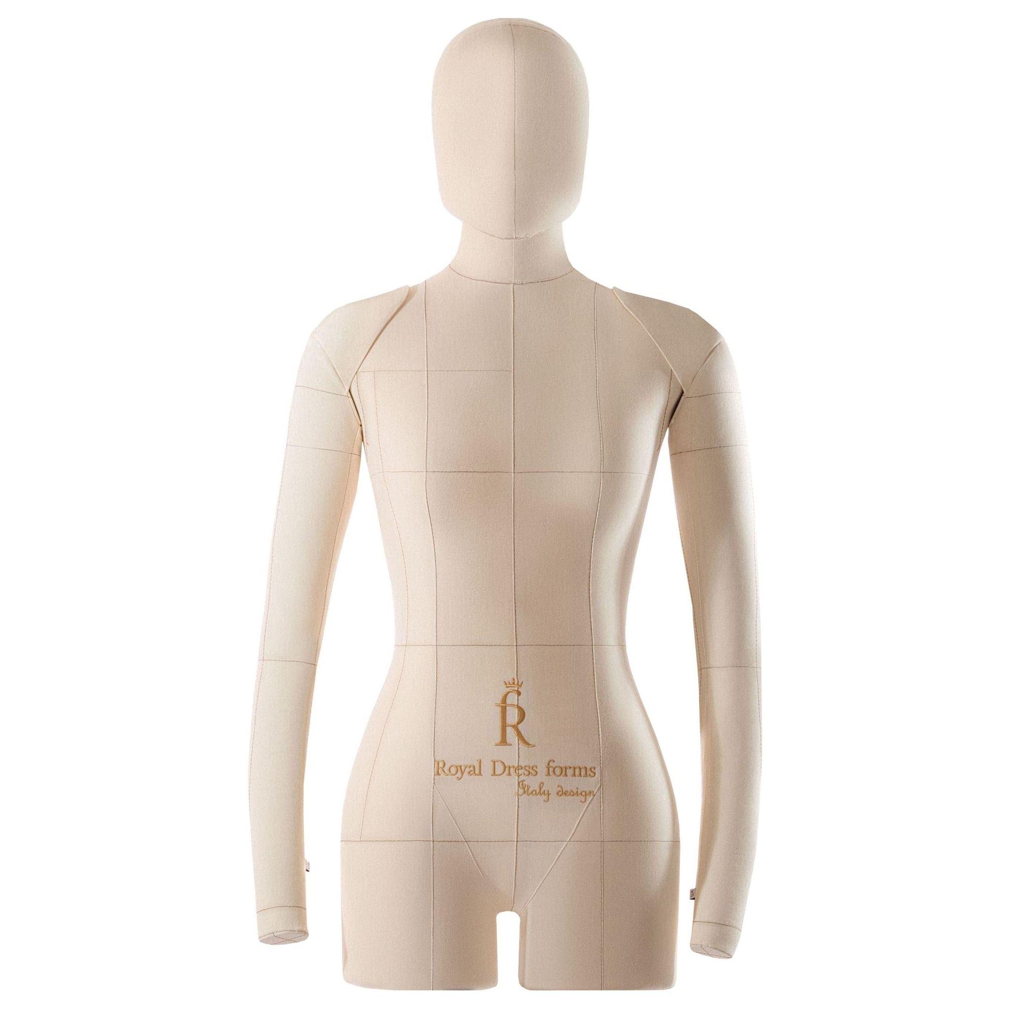 Комплект Lux: мягкий манекен Monica бежевый 40, Ручки, Голова, Фиксатор, Сумка