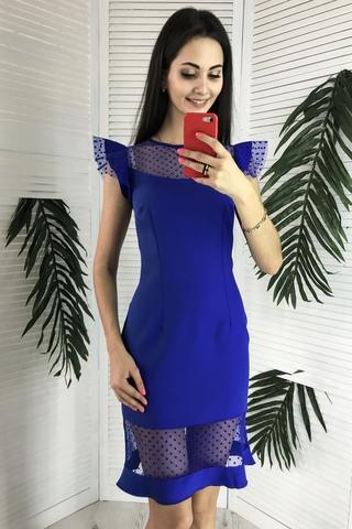 Лола. Оригинальное молодежное коктейльное платье. Электрик