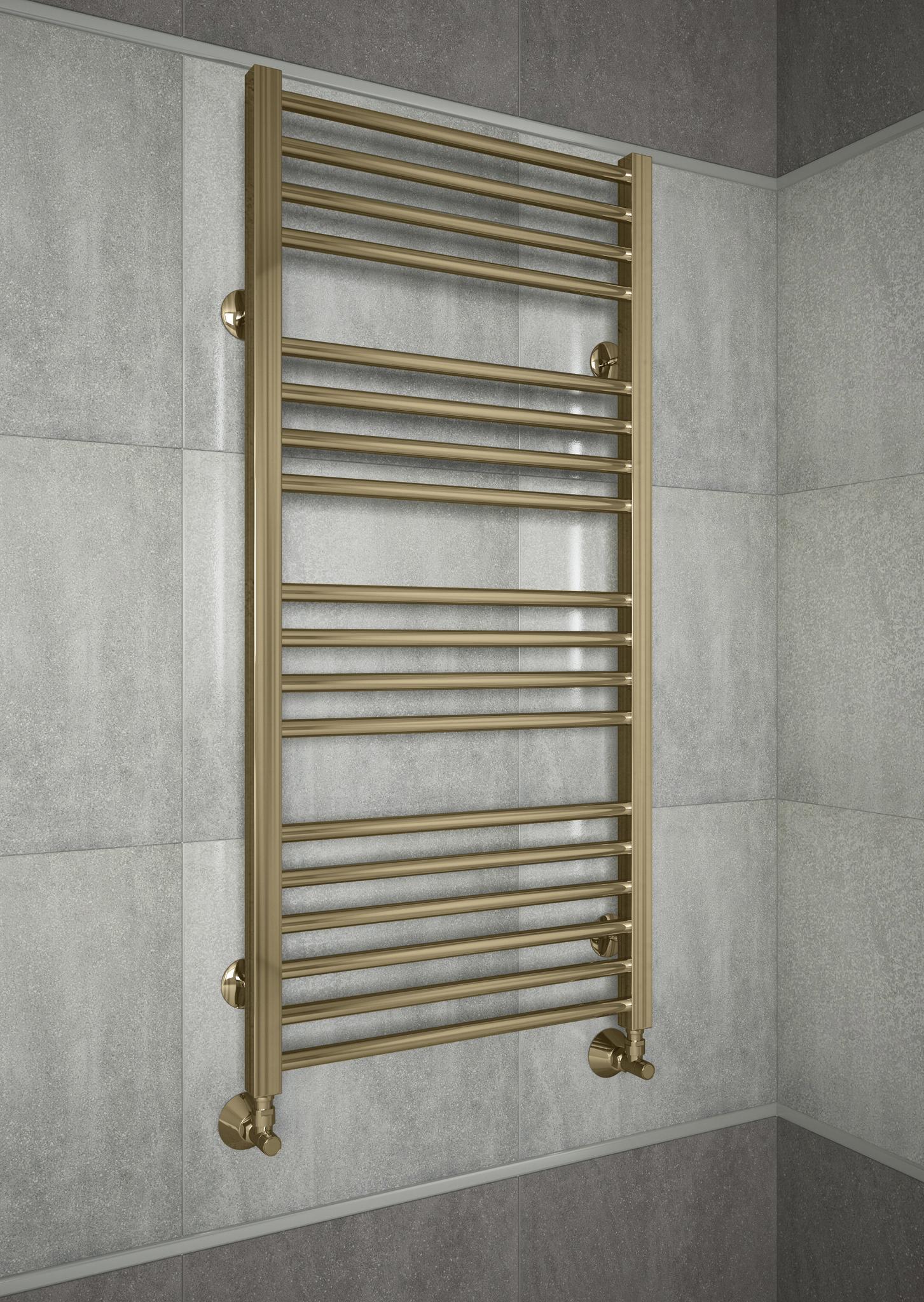 Sicilia E- бронзовый полотенцесушитель с квадратными вертикалями.