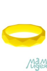 Молочный браслет из пищевого силикона МАМидея жёлтый