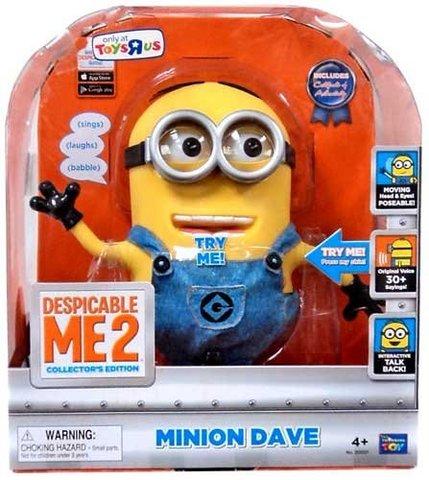 Гадкий я 2 интерактивная игрушка Миньон Дейв — Despicable Me 2 9-inch Talking Dave