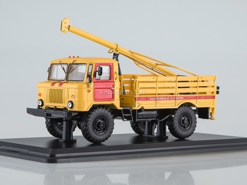 GAZ-66 Drilling machine BM-302 Emergency service 1:43 Start Scale Models (SSM)
