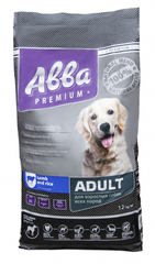 Abba Premium Корм сухой для собак всех пород, ягненок и рис 12 кг