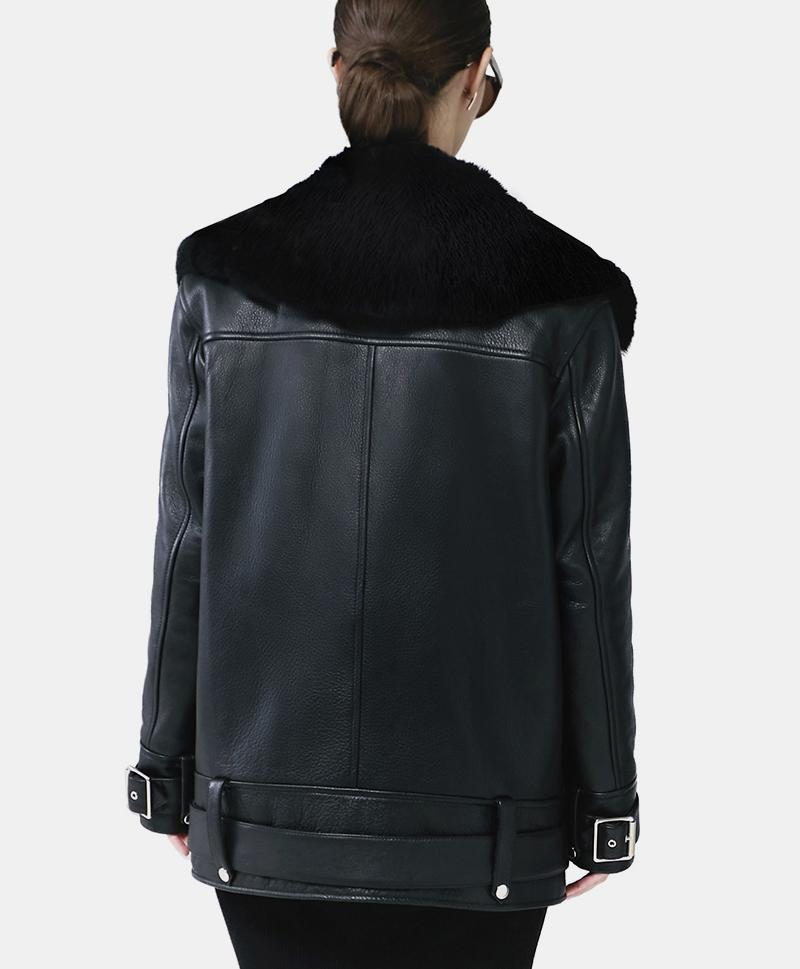 Зимняя кожаная куртка Moto Jacket