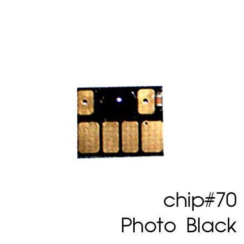 Чип фото чёрный для картриджей (ПЗК/ДЗК) HP 70 Photo Black для DesignJet Z2100, Z5200 (авто обнуляемый), независимый