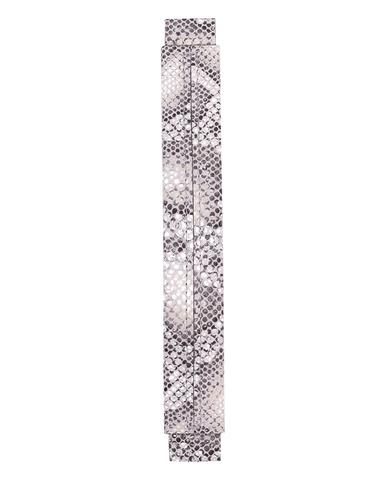Сменная ручка из светло серой кожи с принтом питона