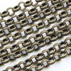 Винтажная цепь (звено 5 мм) (оксид латуни), 10 см
