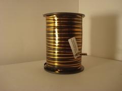 Лента с золотой полоской (0,5см*250ярд) Черная