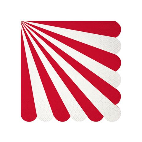 Салфетки в красную полоску, маленькие