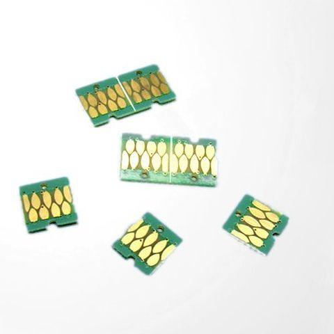 Чипы для Epson SureColor SC-F6000, SC-F7000, комплект 4 шт, автообнуляемые (авто-чипы)