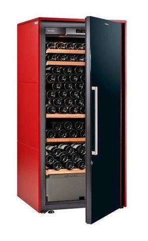 Винный шкаф EuroCave D Collection M красный сатин, сплошная дверь, стандартная комплектация